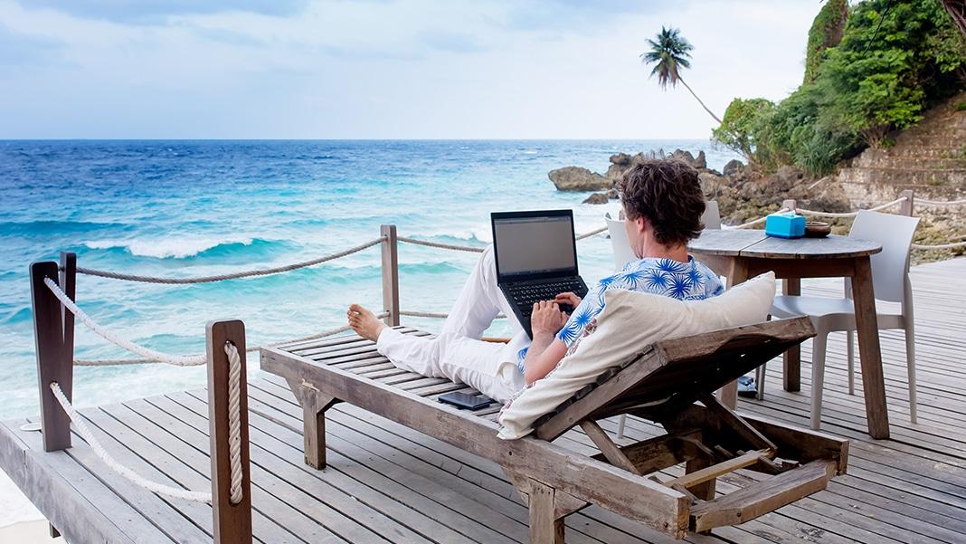 Arbeiten an Strand und Meer