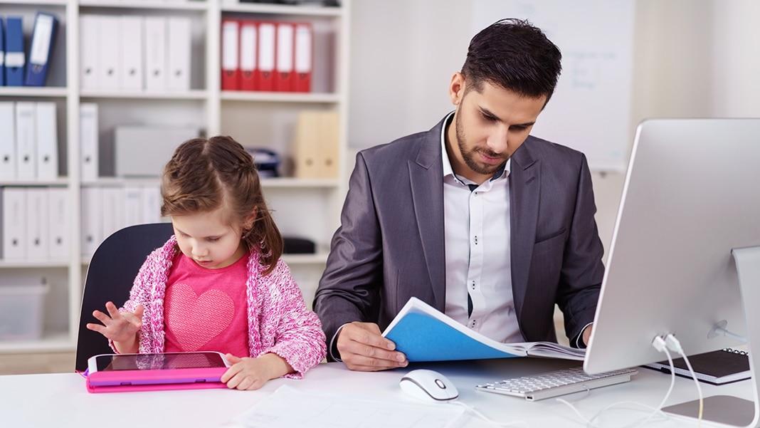 Kind zum Arbeitsplatz mitnehmen?